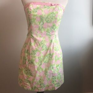 Lilly Pulitzer Tiger Cloud Vintage Print Strapless
